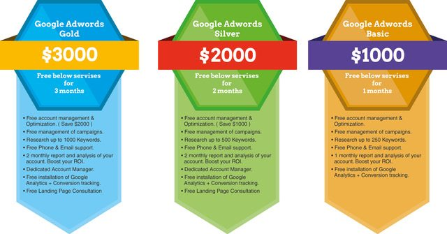 Google adwords management pricing