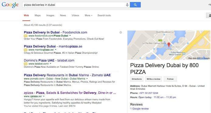 Pizza Delivery Dubai