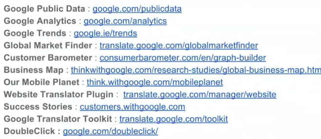 Google Tool Kit for International Research