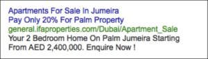dubai property ads
